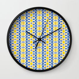 Jubilee in Yellow and Blue Wall Clock