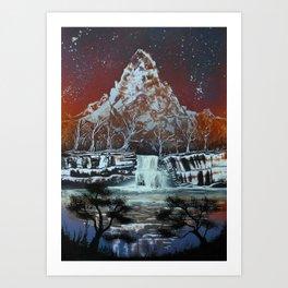 Night on the Lake Art Print