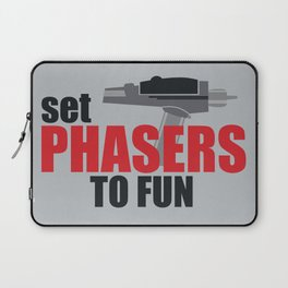 Set Phasers to Fun! Laptop Sleeve