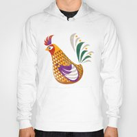 rooster Hoodies featuring Rooster by Jackie Sullivan