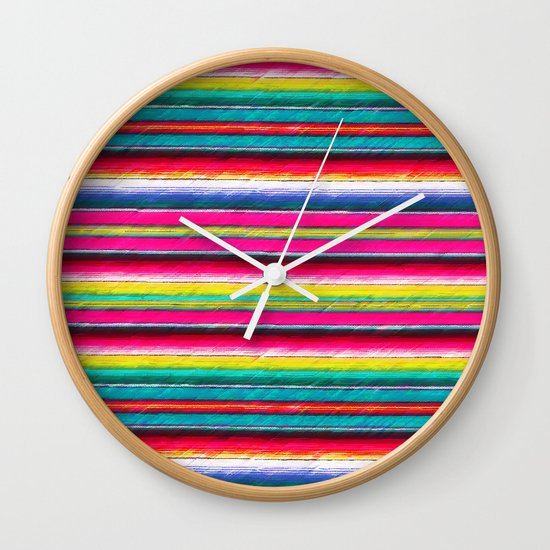 Serape II Wall Clock