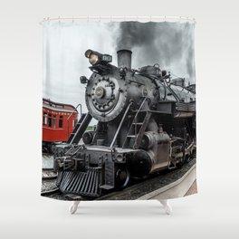 Strasburg Railroad Vintage Steam Locomotive Baldwin Train Engine Pennsylvania Shower Curtain
