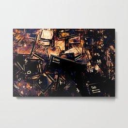 keyboard keys letters wsstd Metal Print