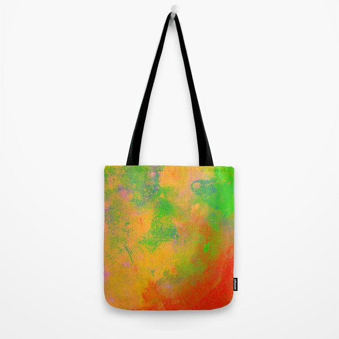 Taste The Rainbow - Multi coloured, abstract, textured painting Tote Bag