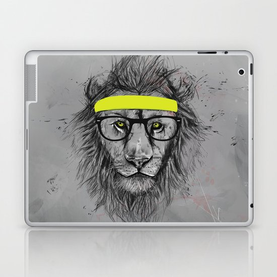 hipster lion Laptop & iPad Skin