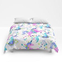Pastel Unicorns Comforters