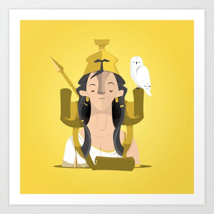 Greek Gods Series - Athena Art Print by luchoscala