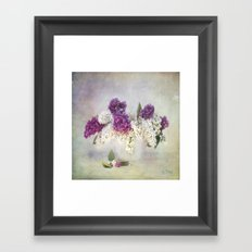 still life with lilac Framed Art Print