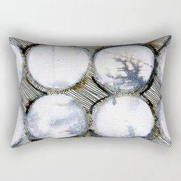 WATERCOLOUR DISCS: White Howlite (detail ) Rectangular Pillow