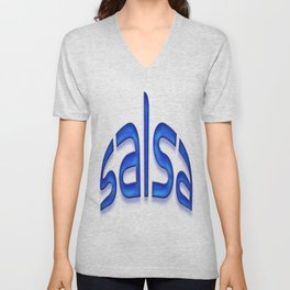 Salsa Blue Jerry Unisex V-Neck