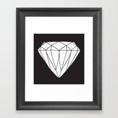 White diamond Framed Art Print