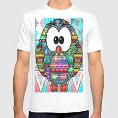 owl aztec tribal best design Mens Fitted Tee White MEDIUM
