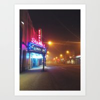 theatre Art Prints featuring Stanley Theatre by Kyle Oxborough