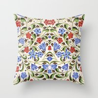 medieval Throw Pillows featuring Medieval Floral by Diana Kryski