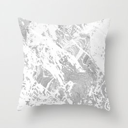 Scratched Marble Throw Pillow