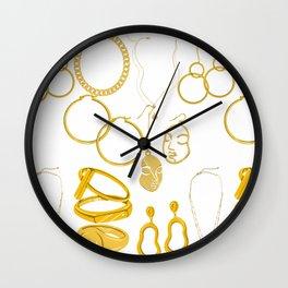 Neck gold Wall Clock