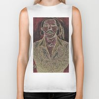 nick cave Biker Tanks featuring Cave by Alec Goss