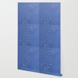 Blue Ivy Vine - Pretty - Rustic - Floral Wallpaper