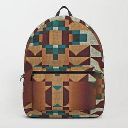 Native American Indian Tribal Mosaic Rustic Cabin Pattern Backpack