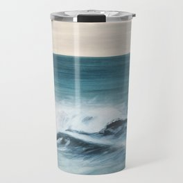 Surfing big waves Travel Mug