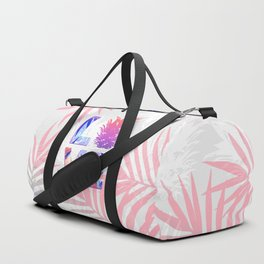 Love Pineapple Typography Tropical Boho Summer Vibes Duffle Bag