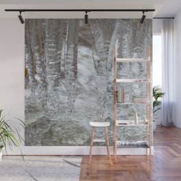 Watercolor Ice 17, Icy Spindels Wall Mural