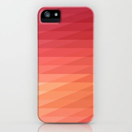 Fig. 044 Coral, Pink & Peach Geometric Diagonal Stripes iPhone Case
