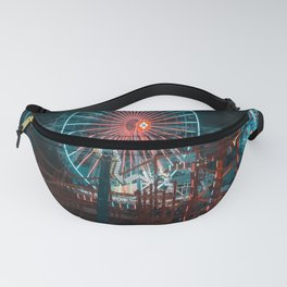 Theme park at night Fanny Pack