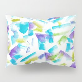 180719 Koh-I-Noor Watercolour Abstract 15   Watercolor Brush Strokes Pillow Sham