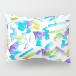 180719 Koh-I-Noor Watercolour Abstract 15 | Watercolor Brush Strokes Pillow Sham