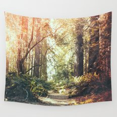 Beautiful California Redwoods Wall Tapestry