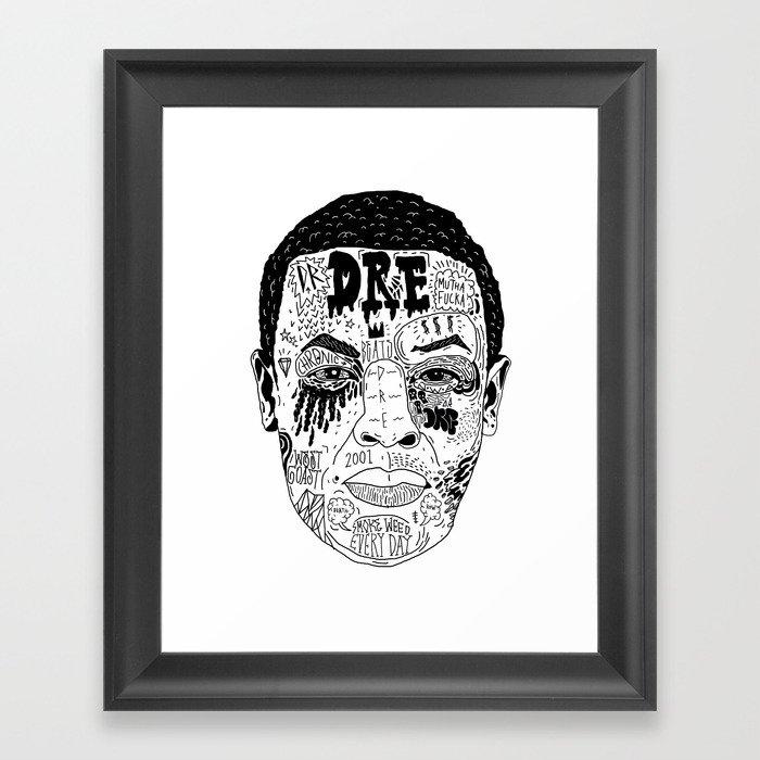 Dr Dre Framed Art Print by nickcocozza