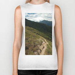 narrow hiking path alps serfaus fiss ladis tyrol austria europe Biker Tank