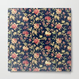 Shabby Floral Print Metal Print