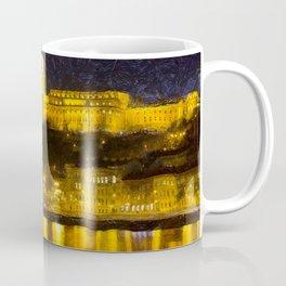 Budapest Chain Bridge And Castle Art Coffee Mug