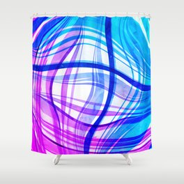 Abstract Vivids Shower Curtain