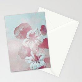Elegant Pastel Vintage Pink Aqua Blue Flowers Stationery Cards