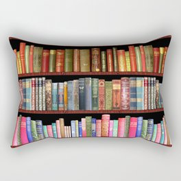 Vintage books ft Jane Austen & more Rectangular Pillow