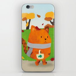 A Lovely Walk To The Shops In Autumn iPhone Skin