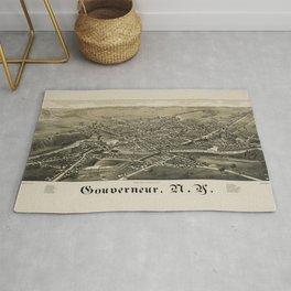 Bird's Eye View of Gouverneur, New York (1885) Rug