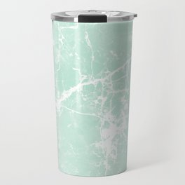 Modern vintage mint white elegant marble Travel Mug