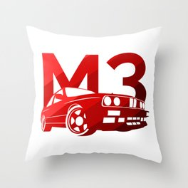 BMW E30 M3 -classic red - Throw Pillow