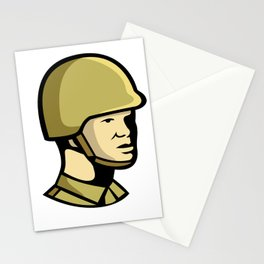 Chinese Communist Soldier Icon Stationery Cards