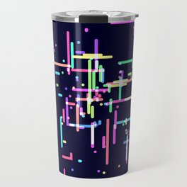 Abstract Colorful Rainbow Art Pattern Travel Mug