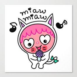 Pinky & choco : MIAW MIAW Canvas Print