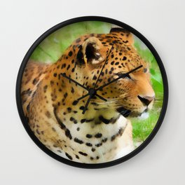 Lounging Leopard Wall Clock