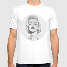Marilyn Monroe portrait Mens Fitted Tee White MEDIUM
