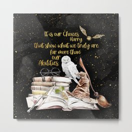Our Choices - Golden Dust Metal Print