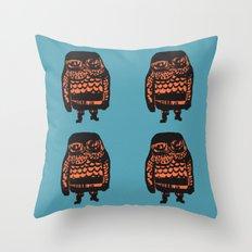 Little Seal (blue) Throw Pillow