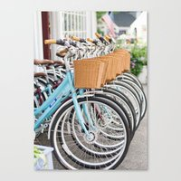 bicycles Canvas Prints featuring Bicycles by jillserranophotography